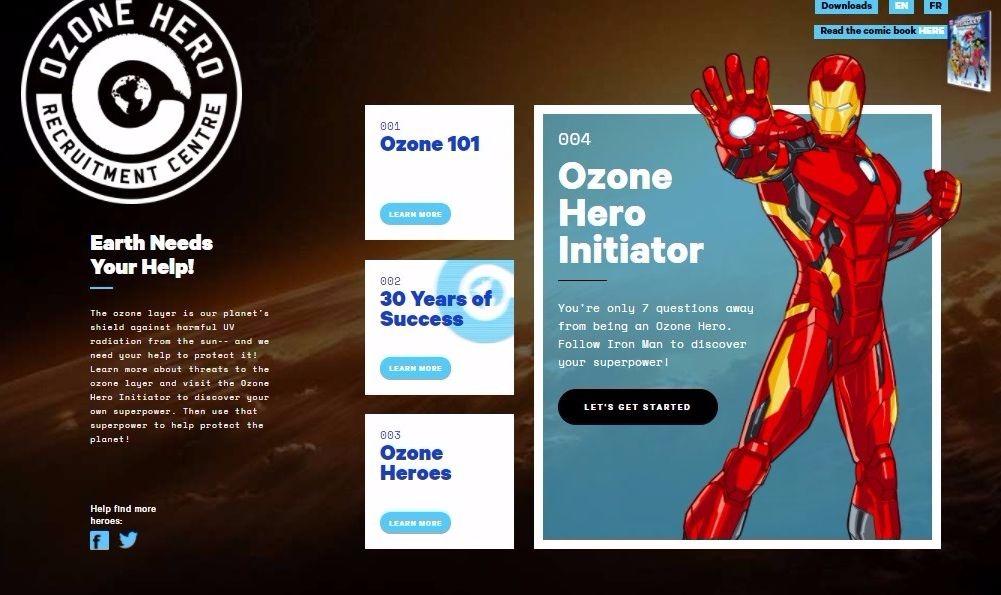 """Homem de Ferro e Guardiões da Galáxia celebram 30 anos de sucesso do Protocolo de Montreal em campanha """"Heróis do Ozônio"""""""