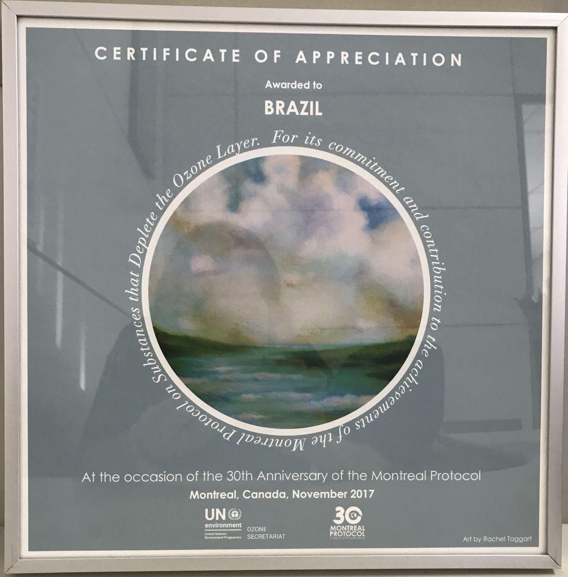 Brasil recebe premiação internacional pelo compromisso com a Proteção da Camada de Ozônio